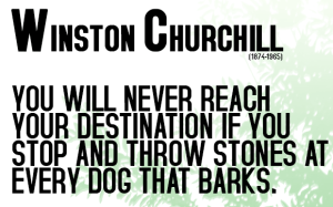 no focus no destination winston churchill quintessential leader