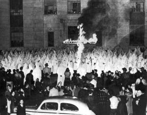 ku klux klan burning cross unquintessential leader