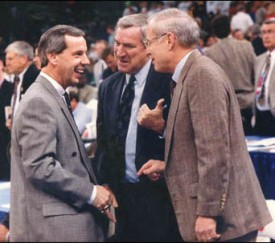 Roy Williams Dean Smith Bill Guthridge 1991