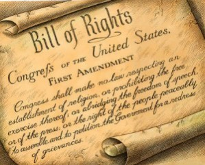 U.S. Bill of Rights 1st Amendment to the Constitution