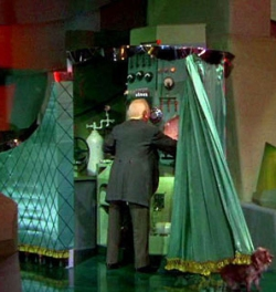 The Wizard of Oz behind the curtain