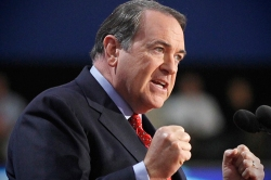 Mike Huckabee chooses to take the low road to get a spot in the Republican debate