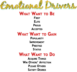 Emotional Drivers are the heart of Emotional Marketing