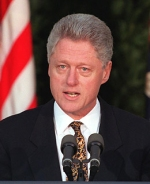 President Bill Clinton models unquintessential leadership when dealing with wrongs