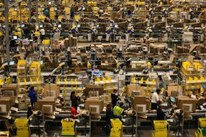 Actual Amazon Fulfillment Center